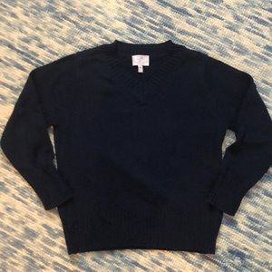 CZ by Carolina Zapf 8 boy v neck navy sweater.